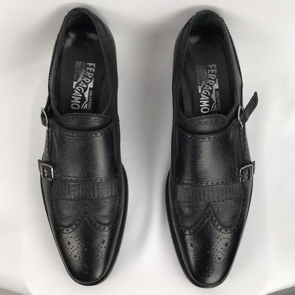 Salvatore Ferragamo Mens Monk Strap Loafers